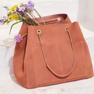 Sezane Gaby Bag (Blush Suede)
